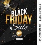 vector black friday sale banner ... | Shutterstock .eps vector #1183684681