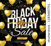 vector black friday sale banner ... | Shutterstock .eps vector #1183685701