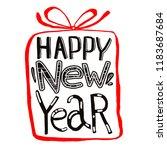 "vector inscription ""happy new... | Shutterstock .eps vector #1183687684"