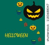 halloween autumn pumpkin fallen ...   Shutterstock .eps vector #1183688047