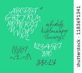 handwritten calligraphic brush... | Shutterstock .eps vector #1183691341