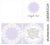 vintage invitation card with... | Shutterstock .eps vector #1183692124