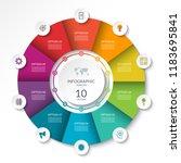 circular infographic flow chart.... | Shutterstock .eps vector #1183695841