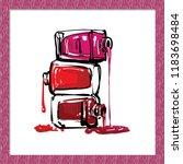 manicure salon symbol  nail... | Shutterstock .eps vector #1183698484