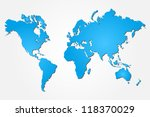 image of a colorful blue world... | Shutterstock .eps vector #118370029
