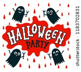 halloween party text banner.... | Shutterstock .eps vector #1183702831