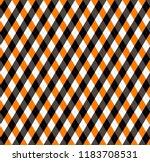 halloween argyle plaid.... | Shutterstock .eps vector #1183708531