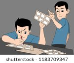 storyboarding cartoon character ... | Shutterstock .eps vector #1183709347