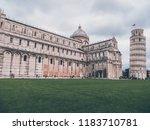pisa  italy   october 2012 ... | Shutterstock . vector #1183710781