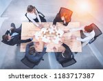 teamwork of partners. concept... | Shutterstock . vector #1183717387