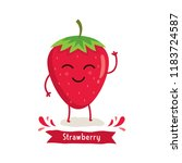 Cute Strawberry Character ...