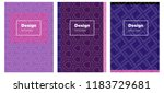 light purple vector brochure...