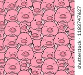 Cute Hand Drawn Piglets Faces...