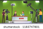 tv live news show host... | Shutterstock .eps vector #1183747801