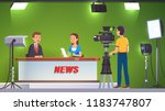 tv live news show host... | Shutterstock .eps vector #1183747807