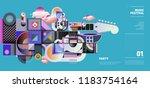 music festival illustration... | Shutterstock .eps vector #1183754164
