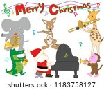 christmas concert at the zoo.... | Shutterstock .eps vector #1183758127