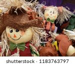 straw dolls for halloween  | Shutterstock . vector #1183763797