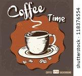 retro vintage coffee background | Shutterstock .eps vector #118376554