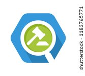 hexagon shape icon with a... | Shutterstock .eps vector #1183765771
