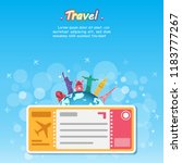 travel and flights background... | Shutterstock .eps vector #1183777267