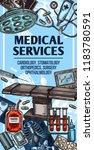 medical center services sketch... | Shutterstock .eps vector #1183780591