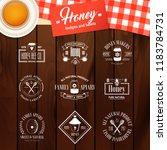 honey and beekeeping set of... | Shutterstock .eps vector #1183784731