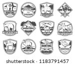 hunting club icons of wild... | Shutterstock .eps vector #1183791457