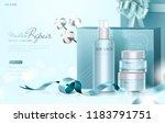 blue skin care gift set ads... | Shutterstock .eps vector #1183791751