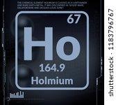 holmium symbol.chemical element ...   Shutterstock .eps vector #1183796767