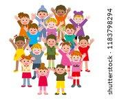 happy world children | Shutterstock . vector #1183798294