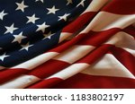 flag usa background | Shutterstock . vector #1183802197