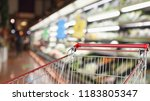 supermarket grocery store with... | Shutterstock . vector #1183805347