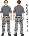 the suit for the man consists... | Shutterstock .eps vector #118380589