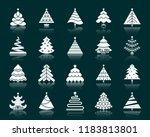 christmas tree silhouette icons ... | Shutterstock .eps vector #1183813801