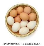 eggs isolated on white... | Shutterstock . vector #1183815664