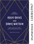 wedding invitation geometric...   Shutterstock . vector #1183815967
