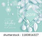 white christmas holiday... | Shutterstock .eps vector #1183816327