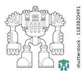 robot coloring book. cyborg... | Shutterstock .eps vector #1183820491