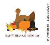 happy thanksgiving day | Shutterstock .eps vector #1183825294