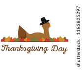 happy thanksgiving day | Shutterstock .eps vector #1183825297