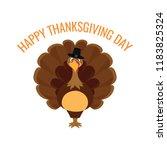 happy thanksgiving day | Shutterstock .eps vector #1183825324