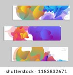 abstract cover template with...   Shutterstock .eps vector #1183832671