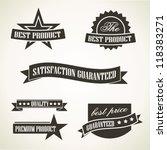 vintage emblems and labels | Shutterstock .eps vector #118383271
