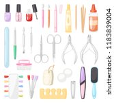 manicure vector pedicure and... | Shutterstock .eps vector #1183839004