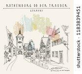 rothenburg  germany  europe....   Shutterstock .eps vector #1183839451