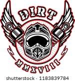 motocross helmet for...   Shutterstock .eps vector #1183839784