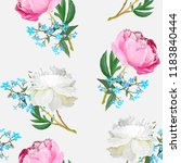 peonies and forget me nots.... | Shutterstock .eps vector #1183840444