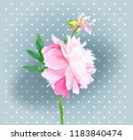a picturesque peony flower....   Shutterstock .eps vector #1183840474