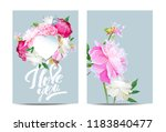 a picturesque peony flower....   Shutterstock .eps vector #1183840477